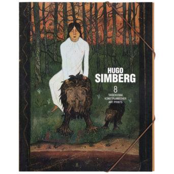 Hugo Simberg kuvasalkku, kannessa Satu I teoskuva