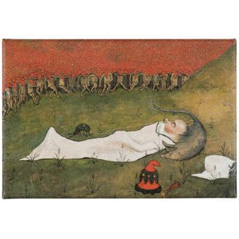Tonttukuningas nukkuu magneetti