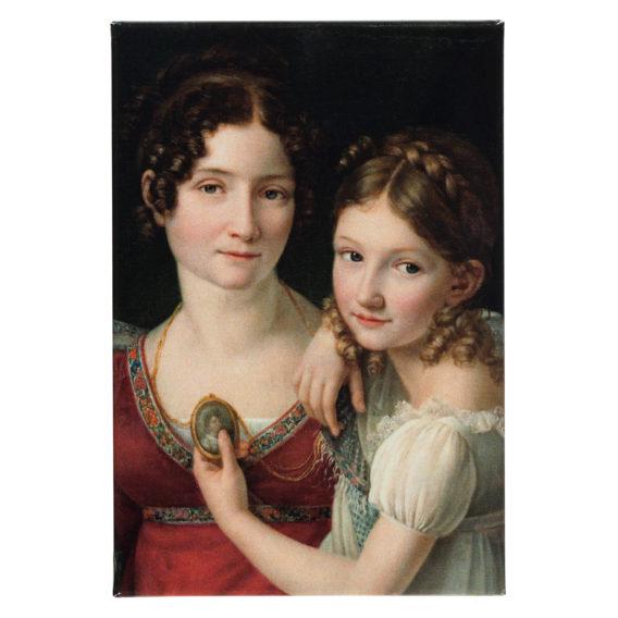 Muotokuva äidistä ja tyttärestä magneetti
