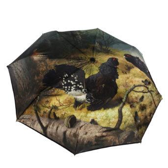 Taistelevat metsot sateenvarjo