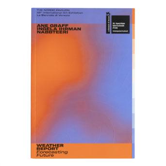 Kirjan kannessa oranssia ja sinistä väriä