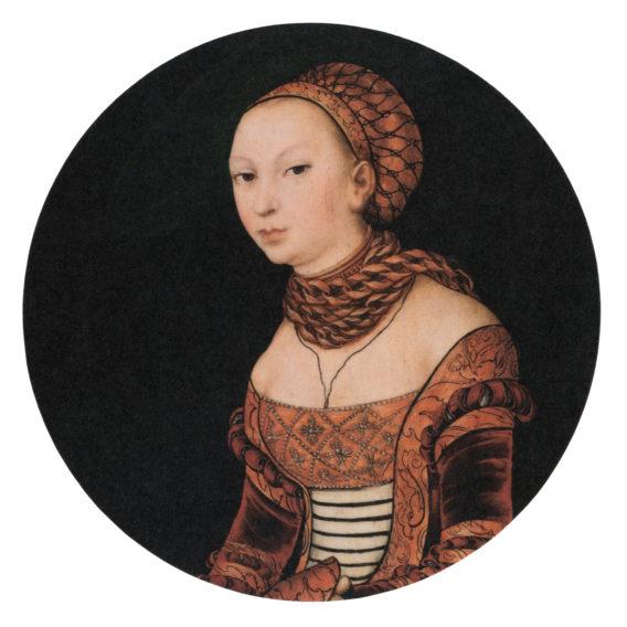 Nuoren naisen muotokuva lasinalunen