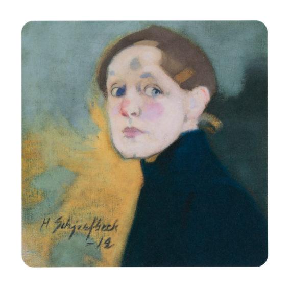 Maalaus Helene Schjerfbeck Omakuva vuodelta 1912