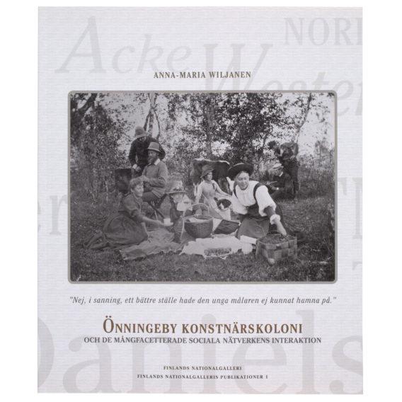 Pehmeäkantinen kirja, jonka kannessa mustavalkoinen valokuva, jossa ihmisiä luonnon helmassa piknikillä