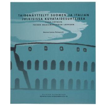 Pehmeäkantinen kirja, jonka kanteen on hahmoteltu Colosseum sinivihreälle taustalle