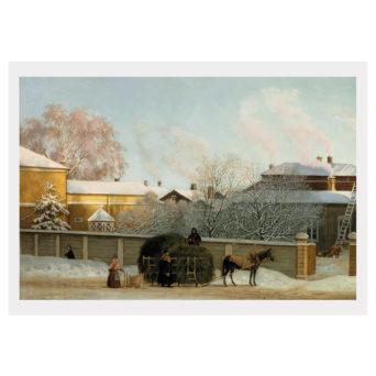 Talvinen maisemamaalaus vanhasta Annankadusta