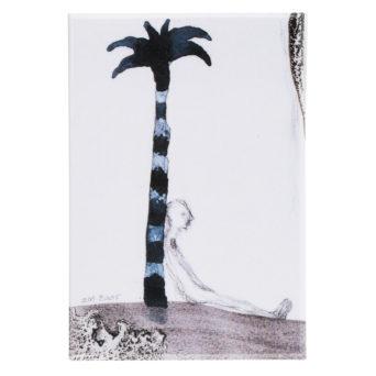 Mustavalkoisessa kuvassa palmu