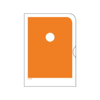 Oranssi paperinen kansio