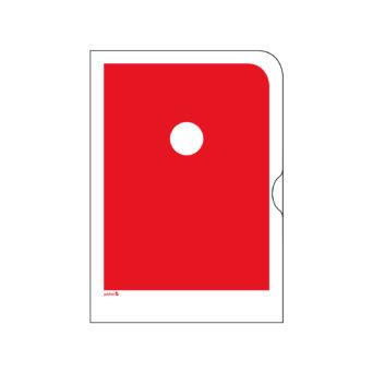 Punainen paperinen kansio