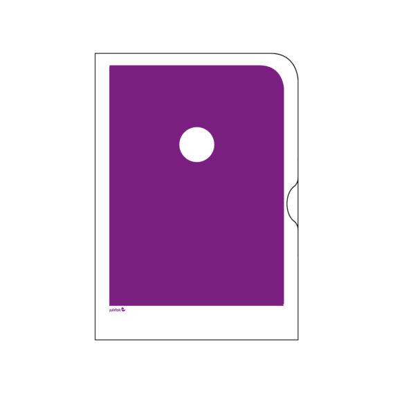 Violetti paperinen kansio