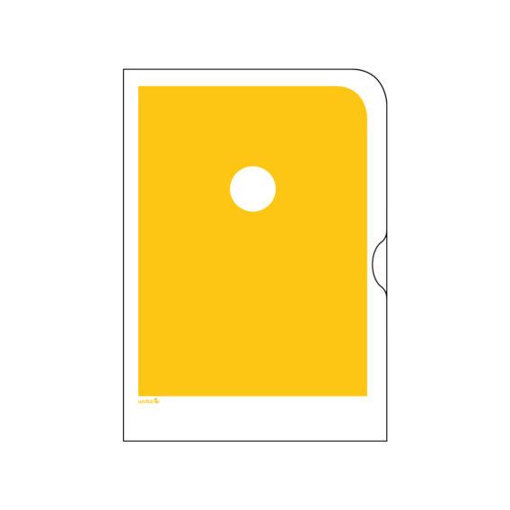 Keltainen paperinen kansio