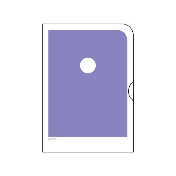 Vaaleanliila paperinen kansio