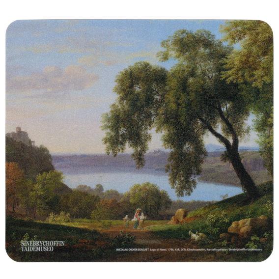 Kuvassa maisema jossa puu etualalalla ja vettä taka-alalla