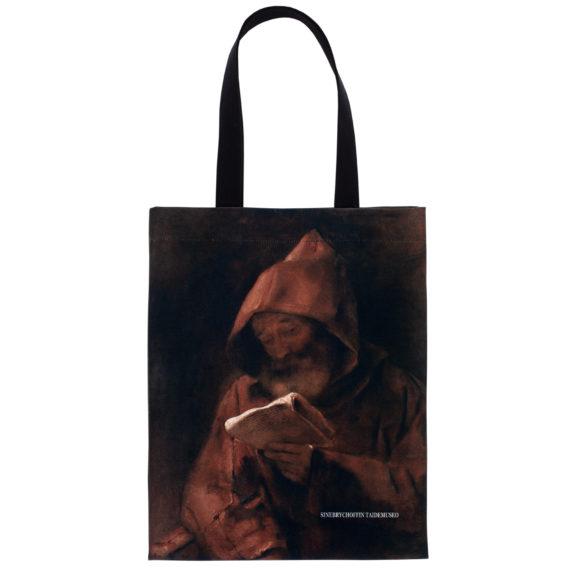 kangaskassi kuvituksena lukeva munkki