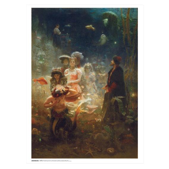 Juliste, jossa hahmoja veden alla