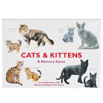 Laatikon kannessa kuvia kissoista