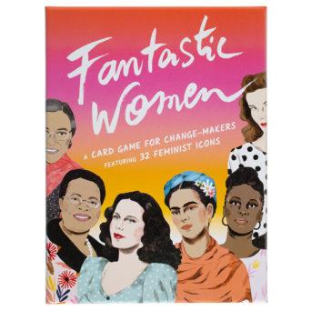Punaoranssin kotelon kannessa piirrettyjä naisia