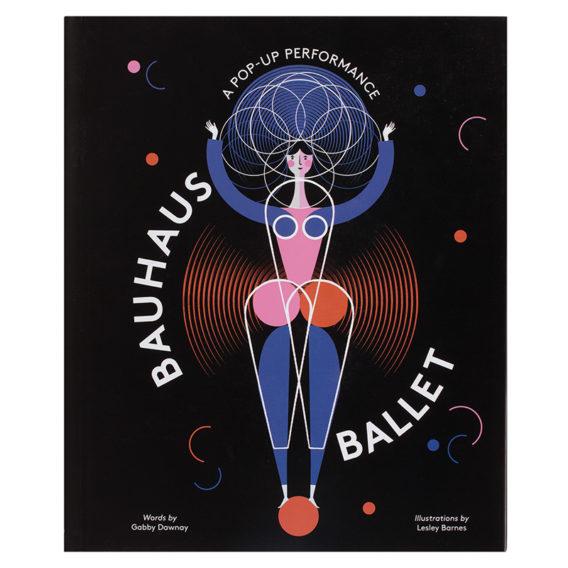 Kirjan kannessa mustalla taustalla tyylitelty värikäs balettitanssija