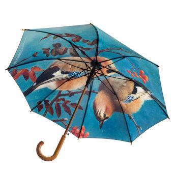 Avattu sateenvarjo taidekuvalla