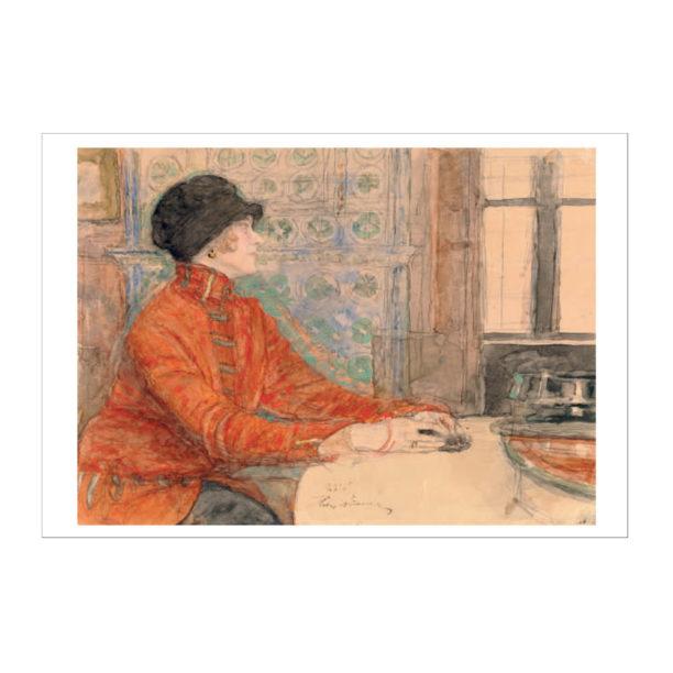 Nainen lukemassa