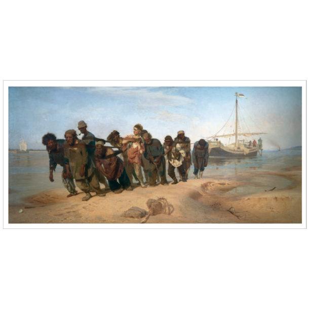 Miehiä vetämässä lauttaa maihin